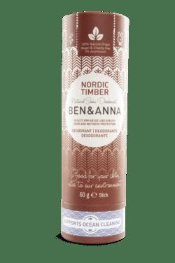 Ben&Anna Natural Care Ben&Anna Deodorant Papertube Nordic Timber 60g
