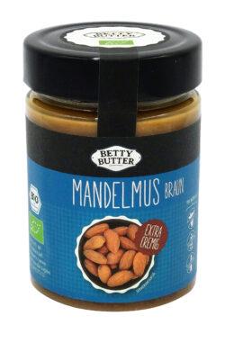 Betty Butter Mandelmus aus gerösteten, ungeschälten Mandeln 6x330g