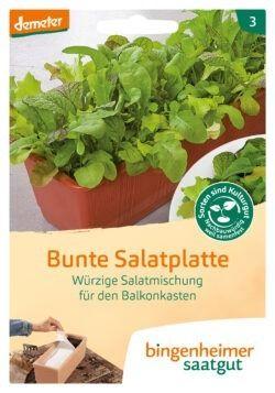 Bingenheimer Saatgut AG Bunte Salatplatte Saatplatte 5x1Stück