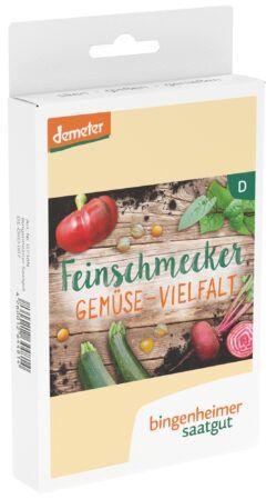 Bingenheimer Saatgut Feinschmecker-Gemüse-Vielfalt - 5 Sorten für das Feinschmeckerherz 3x1Stück
