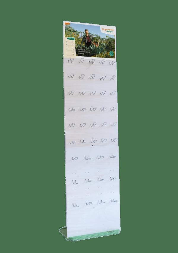 Bingenheimer Saatgut ´Single´ Holz-Warenständer (Verkaufsförderung) 1Stück