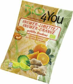 Bio4You Bio-Bonbon-Ingwer-Limette & Ingwer-Orange, gefüllt 75g