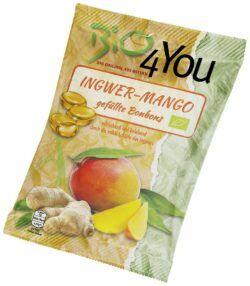 Bio4You Bio-Bonbon-Ingwer-Mango, gefüllt 20x75g