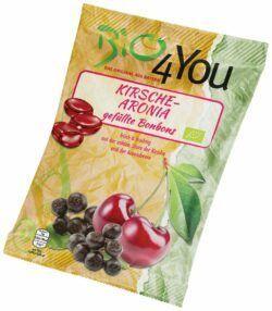 Bio4You Bio-Bonbon-Kirsche-Aronia, gefüllt 20x75g
