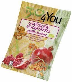 Bio4You Bio-Bonbon-Sanddorn-Granatapfel, gefüllt 20x75g
