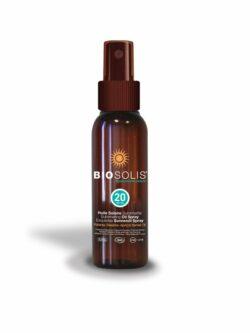 BioSolis Sonnenöl Spray LSF 20 mit Karanja Öl 100ml