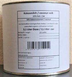 BioVisio Kokosmilch 3/1 Dose 3l