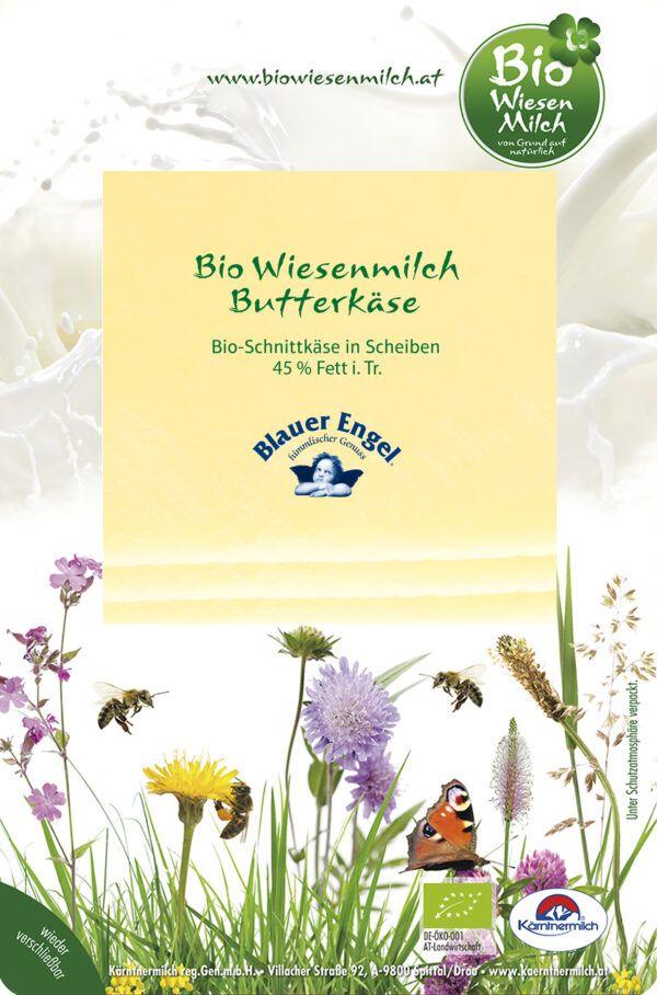 BioWiesenmilch BIO Wiesenmilch Butterkäse 45%F.i.T., in 100g Scheiben, 6-Wochen gereift 10x100g