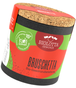 Biolotta Korkdose Bruschetta Bio-Gewürzzubereitung 4x35g