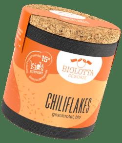 Biolotta Korkdose Chiliflakes geschrotet, bio 4x37g