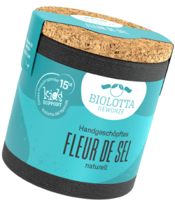 Biolotta Korkdose Fleur de Sel naturell 4x55g