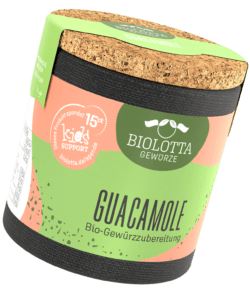 Biolotta Korkdose Guacamole Bio-Gewürzzubereitung 4x50g