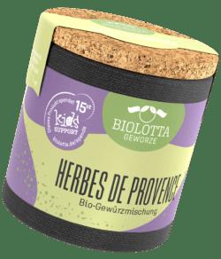 Biolotta Korkdose Herbes de Provence Bio-Kräutermischung 4x16g