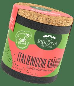 Biolotta Korkdose Italienische Kräuter Bio-Kräutermischung 4x16g