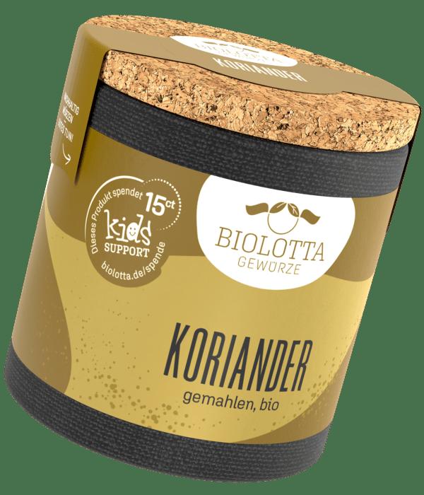 Biolotta Korkdose Koriander gemahlen, bio 4x33g