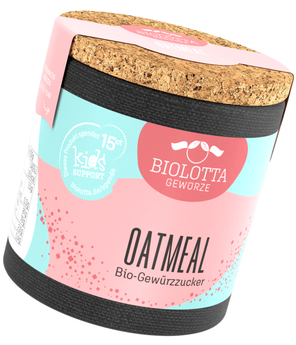 Biolotta Korkdose Oatmeal Bio-Gewürzzucker 4x70g
