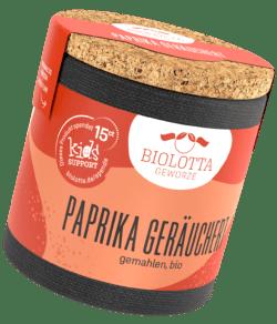 Biolotta Korkdose Paprika geräuchert gemahlen, bio 4x45g