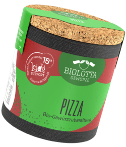 Biolotta Korkdose Pizza Bio-Gewürzzubereitung 4x22g