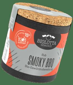 Biolotta Korkdose Smoky BBQ Bio-Gewürzzubereitung 4x70g