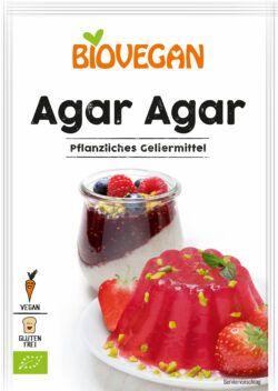 Biovegan Agar Agar, pflanzliches Geliermittel, BIO, glutenfrei 15x30g