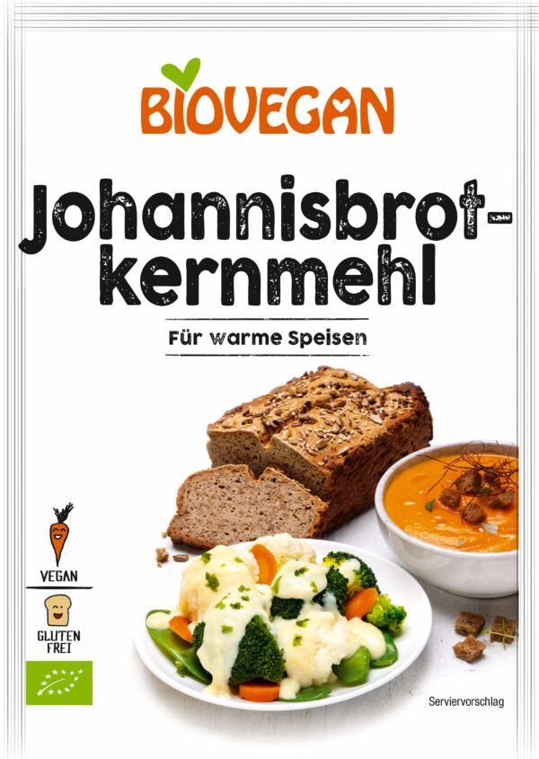 Biovegan Johannisbrotkernmehl, BIO 6x100g