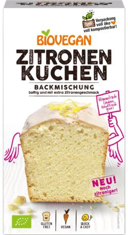 Biovegan Kuchenbackmischung Zitrone, BIO, glutenfrei 4x430g
