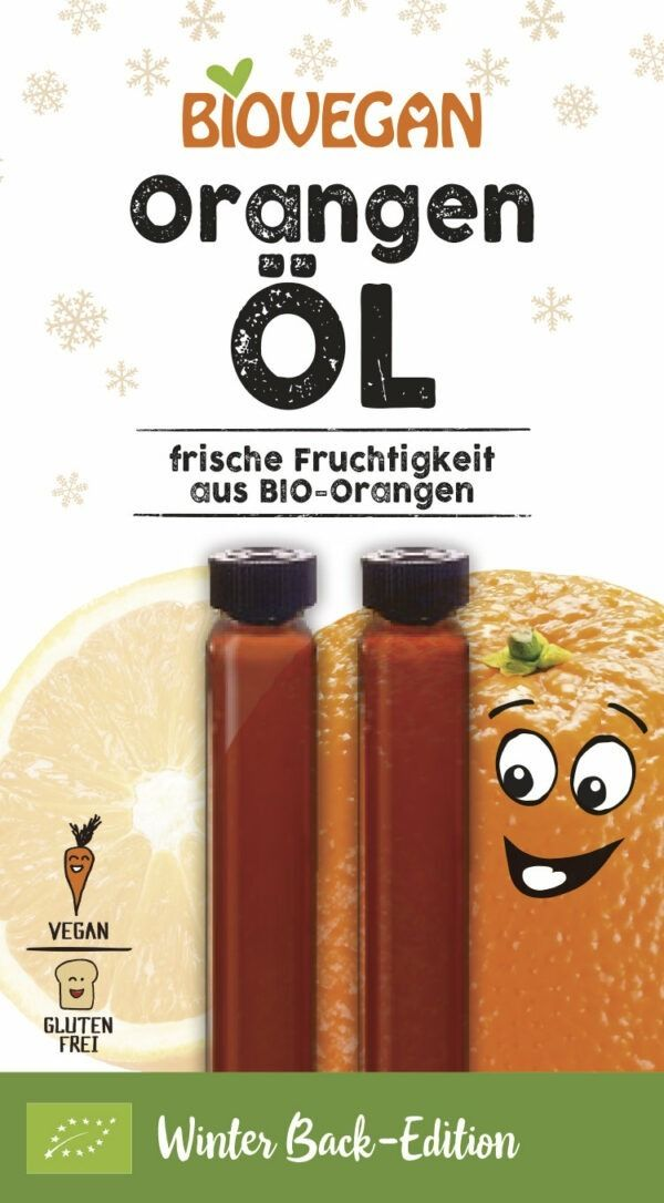 Biovegan Orangen Öl, Bio 10x4ml