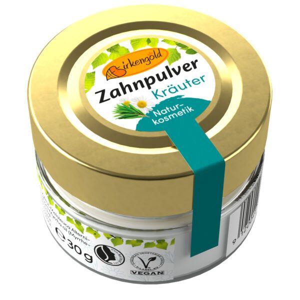 Birkengold ® Zahnpulver Kräuter Glas 30g