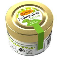 Birkengold ® Zahnpulver Minze Glas 30g
