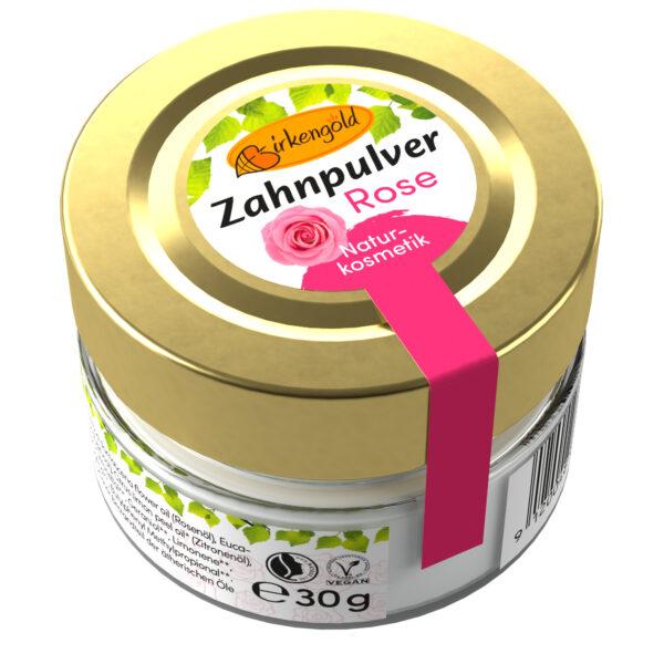 Birkengold ® Zahnpulver Rose Glas 30g