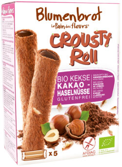 Blumenbrot Crousty Roll Kakao Haselnussfüllung 12x125g