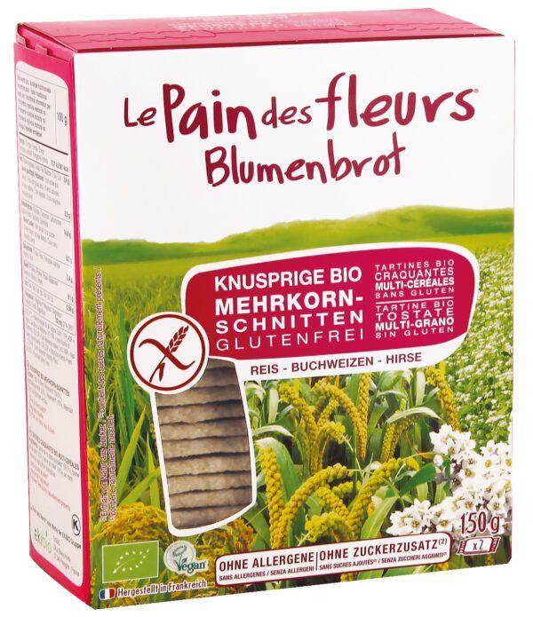 Blumenbrot Knusprige Bio Mehrkorn-Schnitten 6x150g