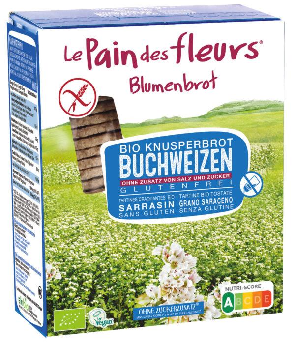 Blumenbrot Knusprige Bio Buchweizen-Schnitten ohne Salz und Zucker 150g