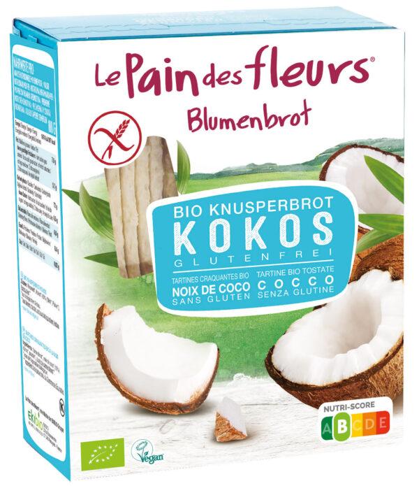 Blumenbrot Knusprige Bio Kokos-Schnitten 150g