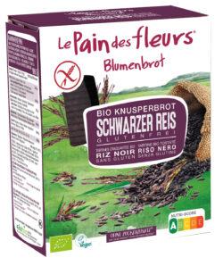 Blumenbrot Knusprige Bio Schwarzer Reis-Schnitten 6x150g