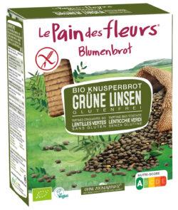 Blumenbrot Knusprige Bio grüne Linsen-Schnitten 150g
