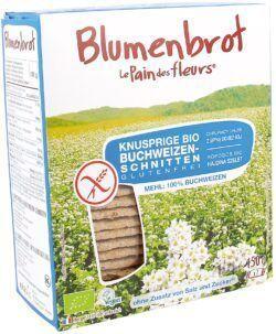 Blumenbrot Knusprige Bio Buchweizen-Schnitten ohne Salz und Zucker 6x150g