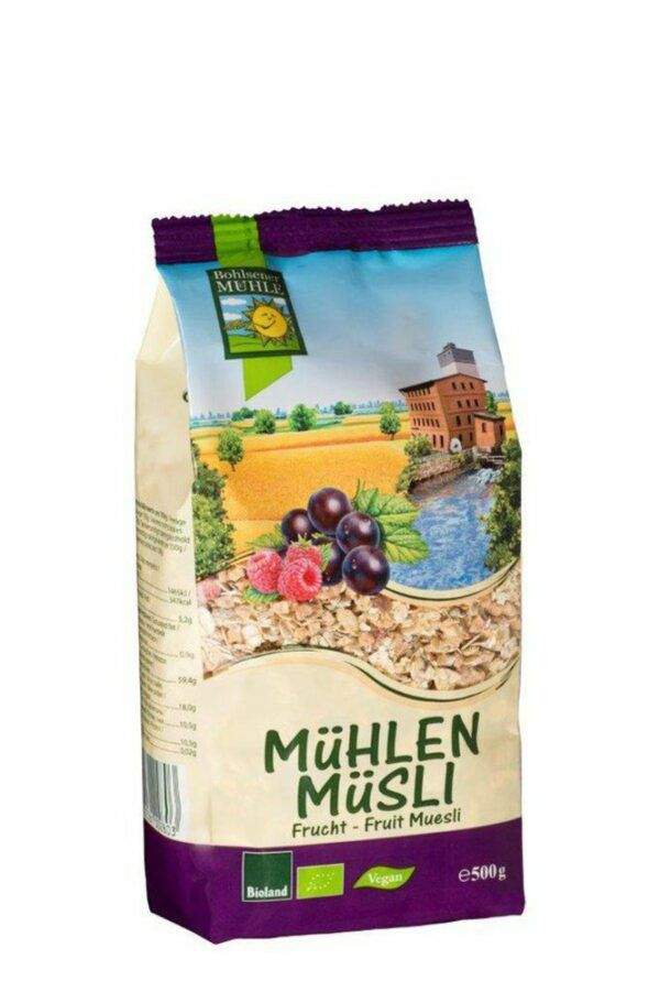 Bohlsener Mühle Mühlen Müsli Frucht 6x500g