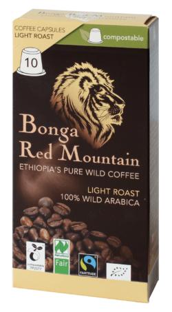 Bonga Red Mountain  Bonga Red Mountain, Kapseln, Light Roast, kompatibel mit Nespresso® Machinen, kompostierbar 6x55g