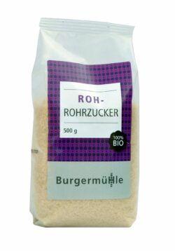 Burgermühle Roh-Rohrzucker 9x500g