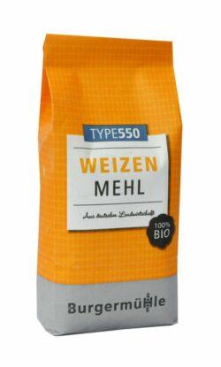Burgermühle Weizenmehl 550, Bioland 6x1kg