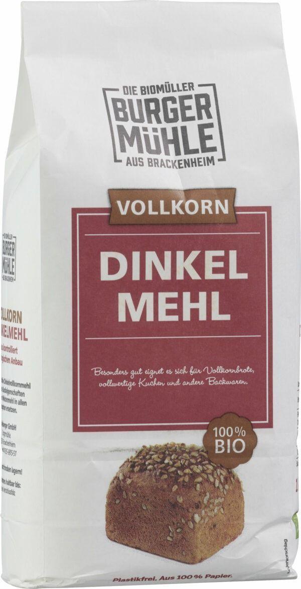 Burgermühle Dinkelvollkornmehl 1kg