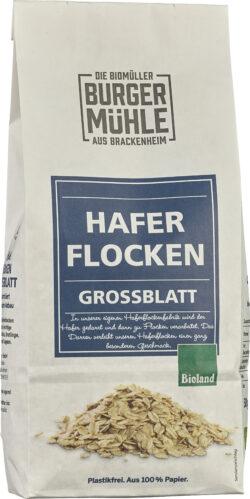 Burgermühle Haferflocken, Großblatt, Bioland 6x500g