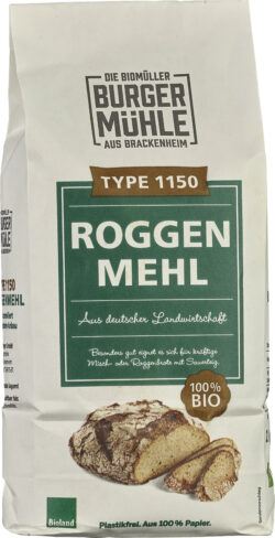 Burgermühle Roggenmehl Type 1150 6x1kg