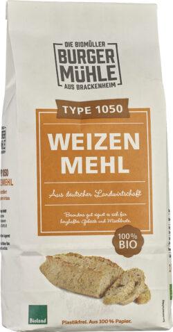 Burgermühle Weizenmehl 1050, Bioland 6x1kg
