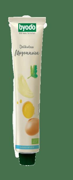 Byodo Delikatess Mayonnaise, 80% Fett, Tube 8x100ml