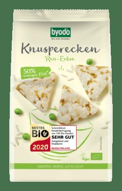 Byodo Knusperecken Reis-Erbse 12x90g