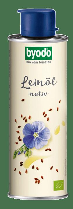 Byodo Leinöl, nativ - in der Dose 0,25l