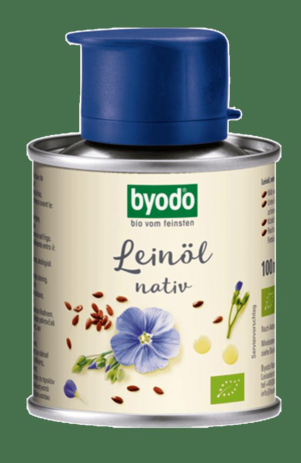 Byodo Leinöl, nativ - in der Dose 6x100ml
