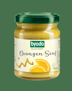 Byodo Orangen Senf, 125 ml - fruchtiger Senf mit Orange und feiner Senfnote 125ml